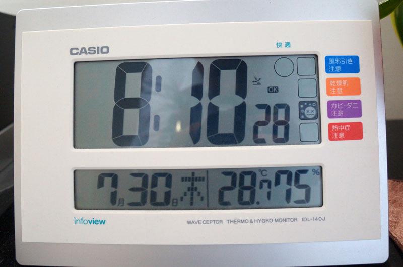 CASIO WAVE CEPTOR  電波時計 カレンダー表示 温度表示 湿度表示.JPG