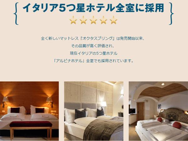 オクタスプリング イタリア5つ星ホテル採用.jpg