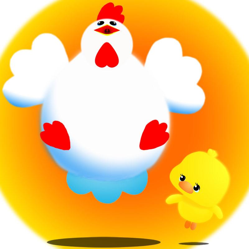 太った鶏&ぴよこ-800.jpg