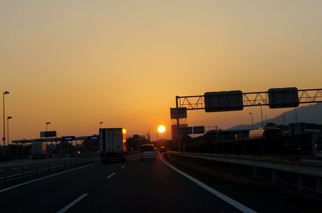 夕陽に向かって.JPG